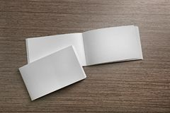 Blank brochures on background. Blank brochures on wooden background Stock Photography