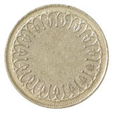 Blank bronze coin Stock Images