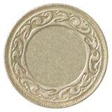 Blank bronze coin Stock Photos