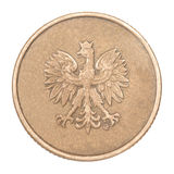 Blank bronze coin Royalty Free Stock Photo