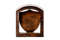 Blank Bronze Crest Plaque Royalty Free Stock Image