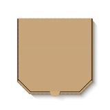 Blank brown cardboard pizza box Stock Photos