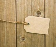 Blank Brown Cardboard Tag Royalty Free Stock Photos