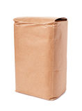 Blank brown craft paper bag. Isolated on white background Stock Photography
