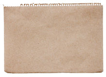 Blank brown note paper Stock Photography