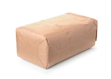 Blank brown paper bag. Isolated on white Royalty Free Stock Images