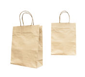 Blank brown paper bag isolated Royalty Free Stock Image