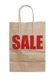 Blank Brown Paper Bag. Blank Brown Paper Bag Isolated On White Background Stock Photography