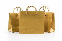 Blank brown paper bag. Stock Photography