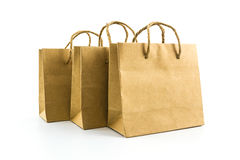 Blank brown paper bag. Royalty Free Stock Photo
