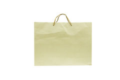Blank brown paper bag. Isolated on white background Royalty Free Stock Photography