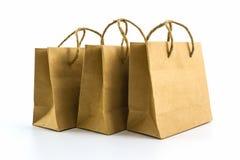 Blank brown paper bag. Stock Image