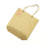 Blank brown paper bag Stock Photos