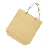 Blank brown paper bag Stock Images