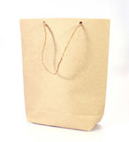 Blank brown paper bag Stock Photos