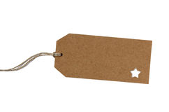 Blank brown paper gift tag Royalty Free Stock Image