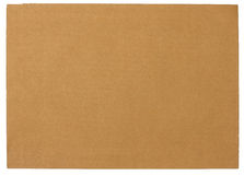 Blank brown paper  isolated on white background Stock Image
