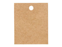 Blank brown paper label isolated on white background Royalty Free Stock Images
