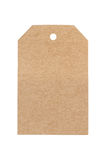 Blank brown paper label isolated on white background Royalty Free Stock Photos