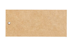 Blank brown paper price isolated on white background Stock Photos