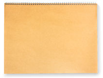 Blank brown paper scrap book isolated on white Royalty Free Stock Images