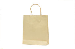 Blank Brown Paper Shoppign Bag Royalty Free Stock Photos
