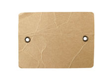 Blank Brown Paper Tag Eyelet on white background Clippi. Blank Brown Paper Tag with Eyelet on white background with Clipping Paths royalty free stock photo