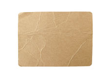 Blank Brown Paper Tag  on white background Clipping Path Stock Photos