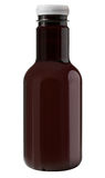 Blank brown plastic bottle Royalty Free Stock Images
