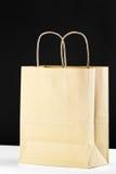 Blank brown shopping bag Stock Photos