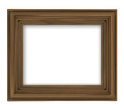 Blank brown wooden decorative rectangular frame Stock Photos