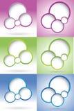 Blank bubbla för rengöringsdukdesign Royaltyfria Bilder