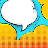 Blank bubble talk in pop art style vector background Stock Images