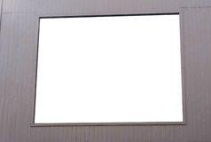 Blank Building Billboard Stock Image