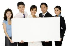 Blank Buiness Sign With Team Stock Photography