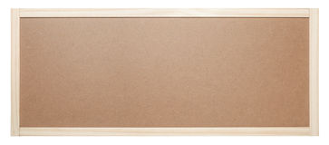 Blank bulletin board. Isolated on white background Stock Images