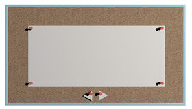 Blank bulletin board Royalty Free Stock Photo