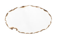 Blank burnt paper frame Royalty Free Stock Photo