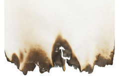 Blank Burnt Paper Royalty Free Stock Image