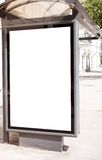 Blank on bus stop Stock Image