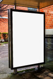 Blank bus stop advertising billboard Stock Images