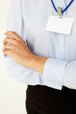 Blank business badge Stock Photo