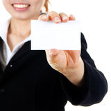 Blank business card. Stock Photos