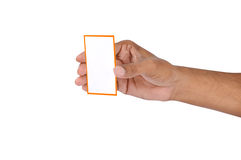 Blank business card. Detail of blank business card Royalty Free Stock Photo
