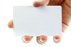Blank business card. On white background Royalty Free Stock Photography