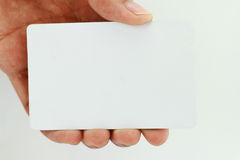 Blank business card. Blank business card on white background Stock Photo