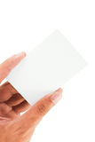Blank business card. On white background Royalty Free Stock Photo