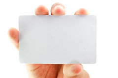 Blank business card. On white background Royalty Free Stock Images