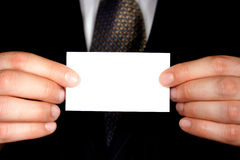 Blank Business Card - Add Text Stock Image