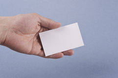Blank business card with clipping path Royalty Free Stock Photo